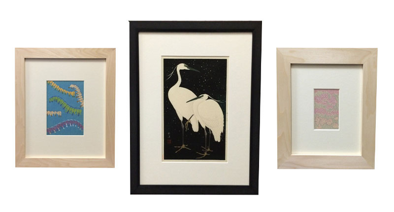 Picture framing examples from bramptonframing.com