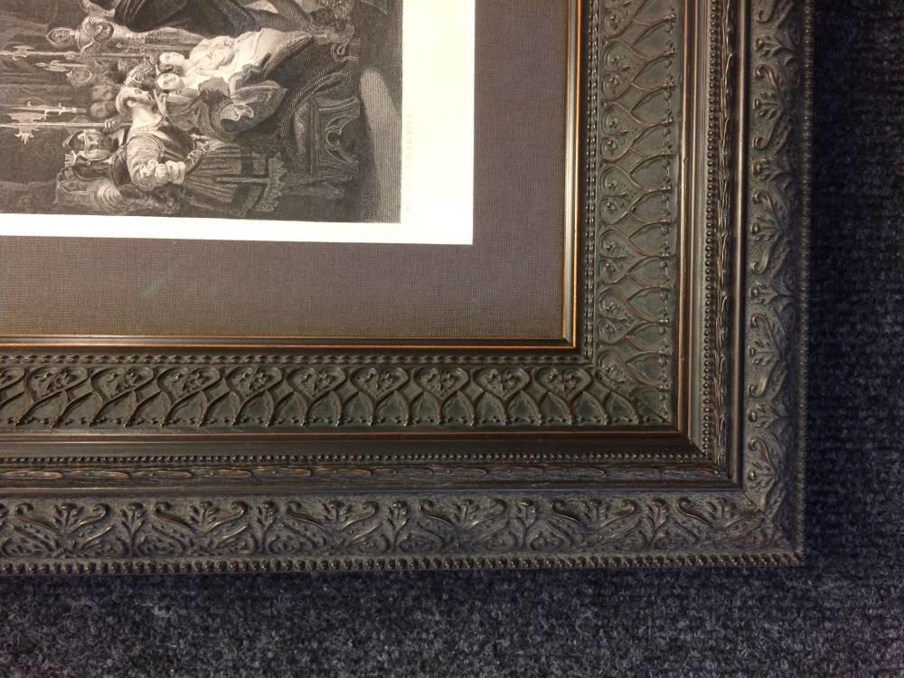 19th century print framed