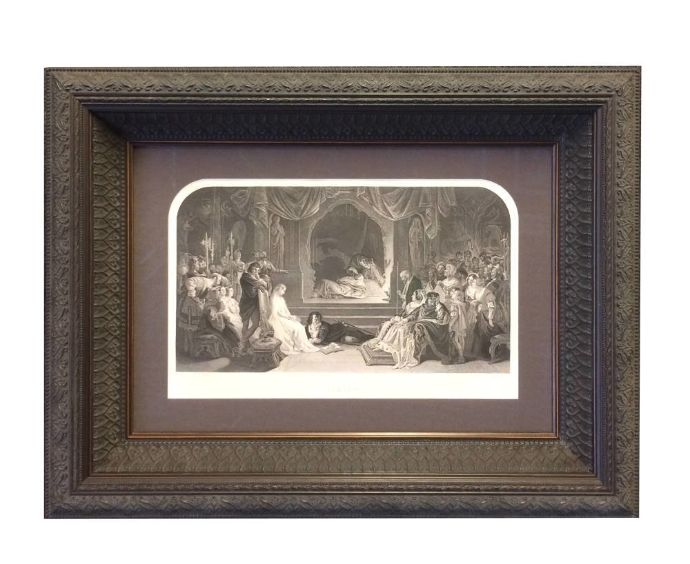 Antique artwork framed by experienced framers