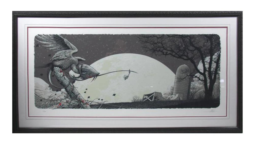 Limited Edition Print Framing - wash lines red mounts aaron horkey 2008