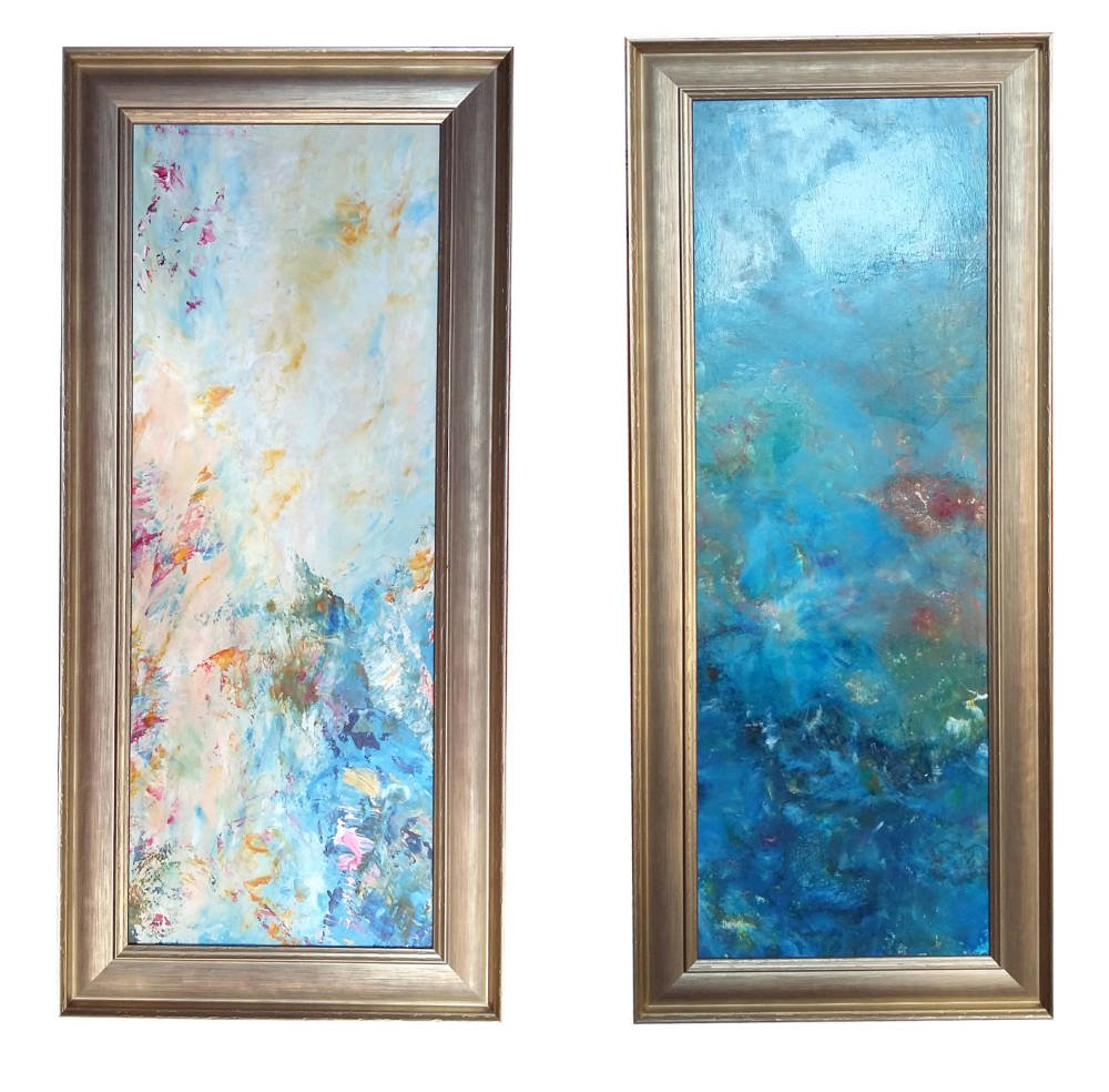 Larson Juhl professional framers - Abstract acrylic paintings framed