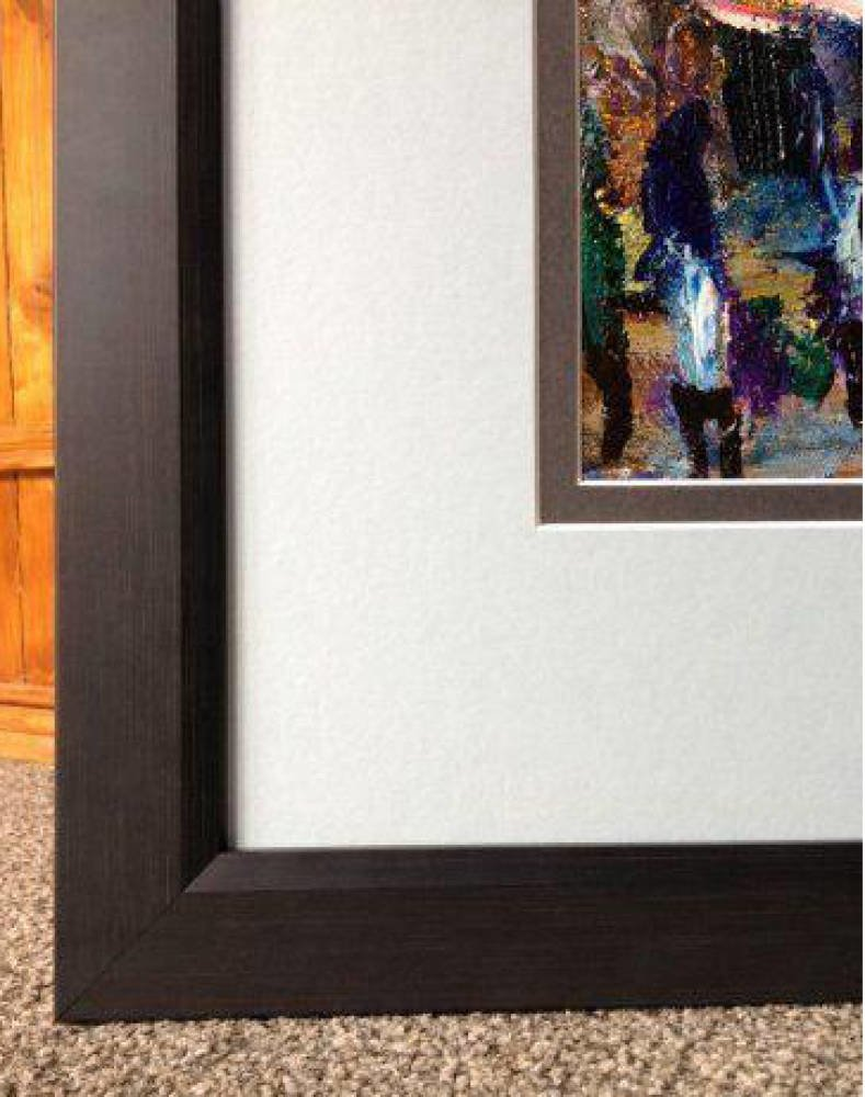 Abstract Original Acrylic painting framed with double mount