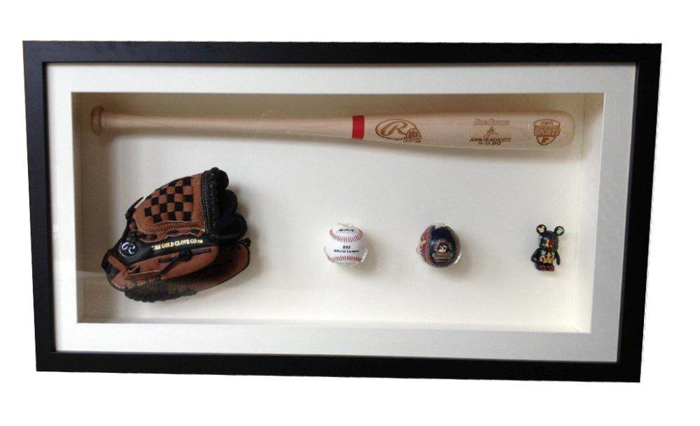 Baseball Bat Framed Hand Sching Specialized Frame Fixings And Glove Framing Project