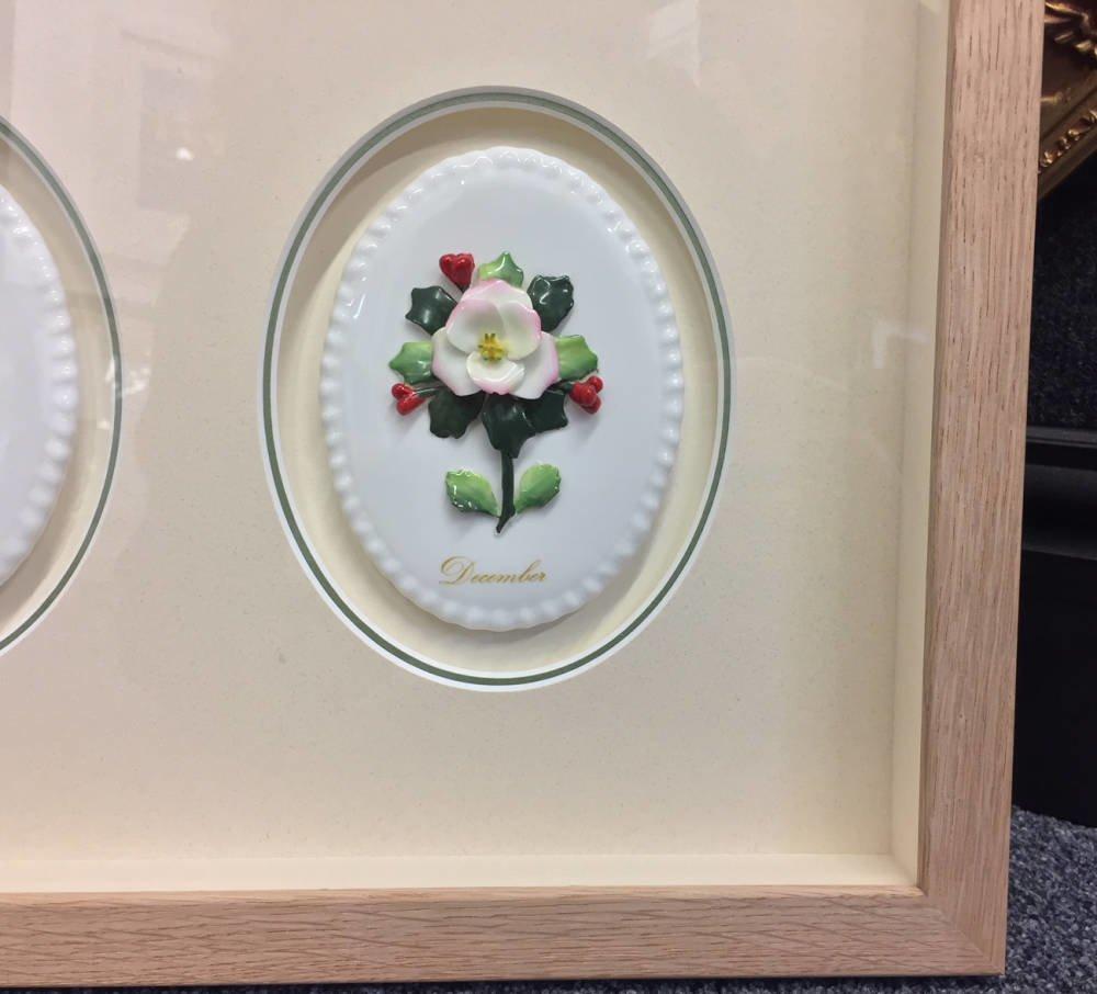 Ceramic Floral Month Plates