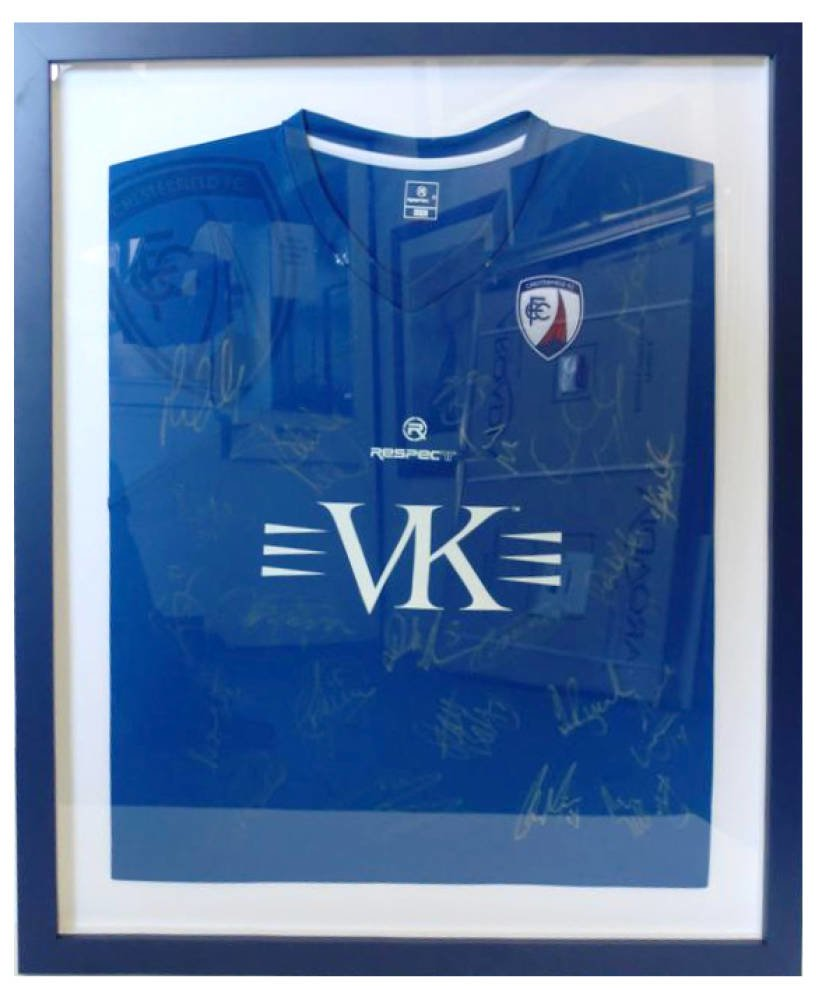 Chesterfield Football club shirt framed