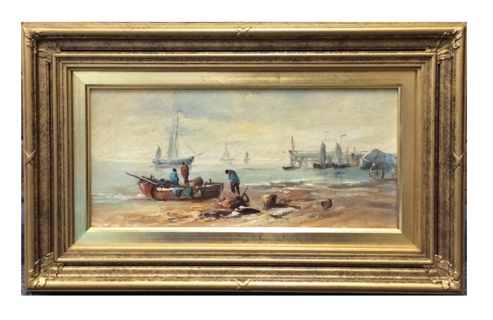 Traditional english frames - Coastal painting in period frame