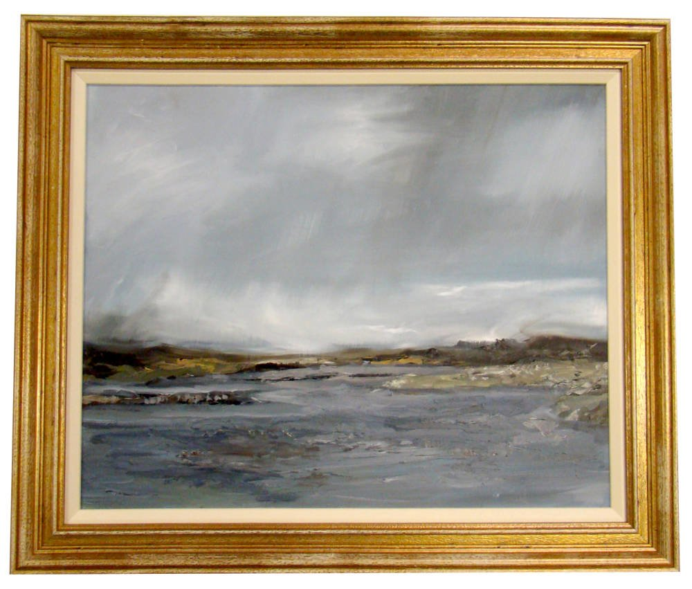 Oil Painting Framing - dramatic seascape painting
