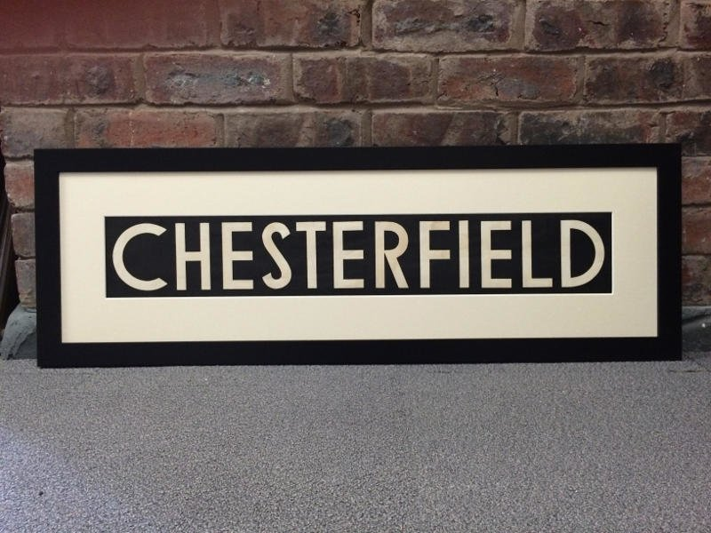 Decommissioned bus sign - Chesterfield - Main Image