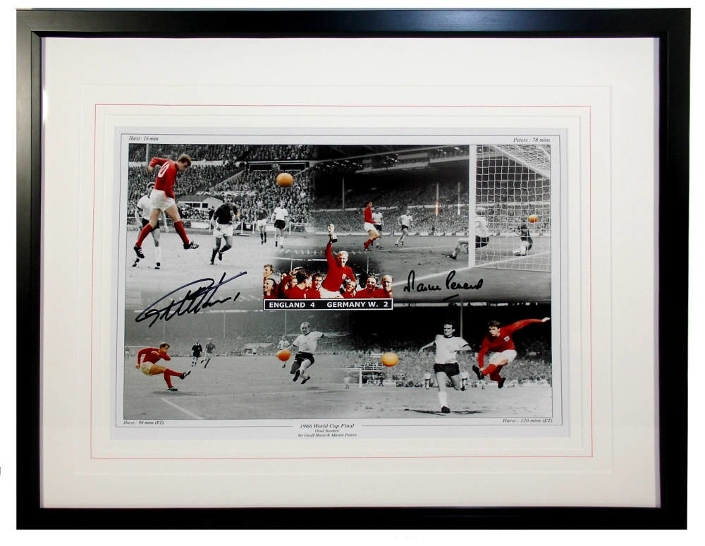 1966 world  - England v. Germany signed print
