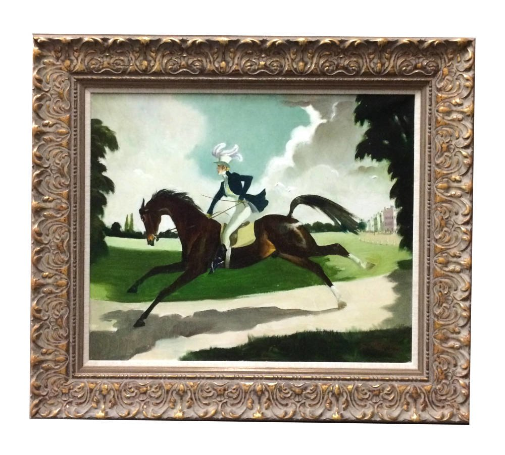 Linen slip - Galloping Horse painting