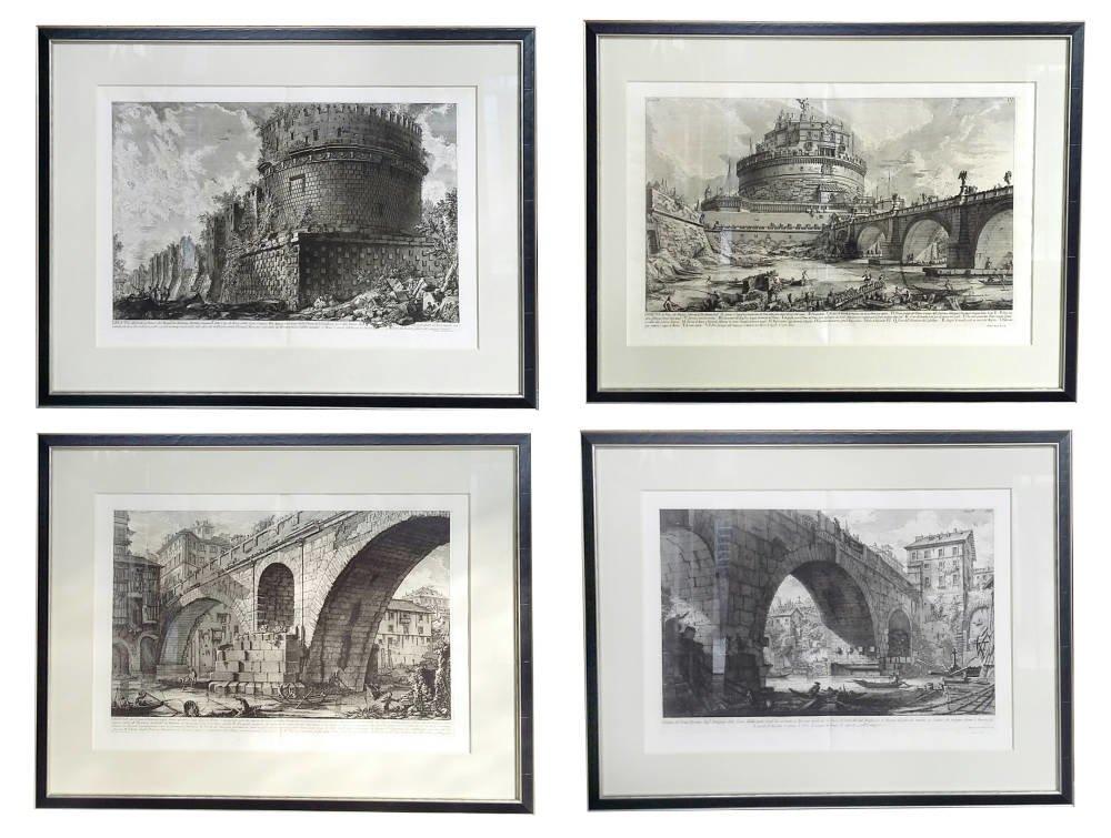 Giovanni Battista Piranesi etchings framed