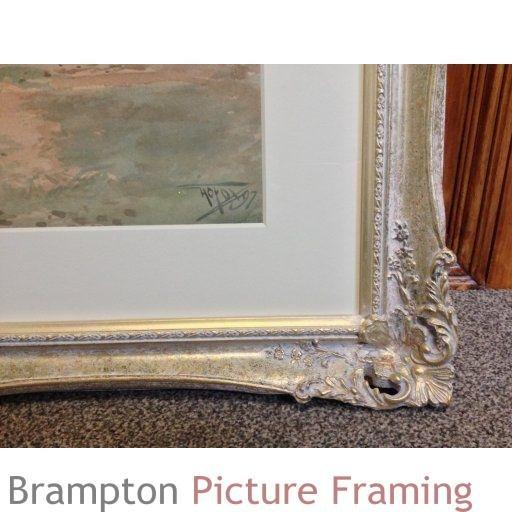 Henry Charles Fox Original Antique Watercolour Henley Bridge framed ...