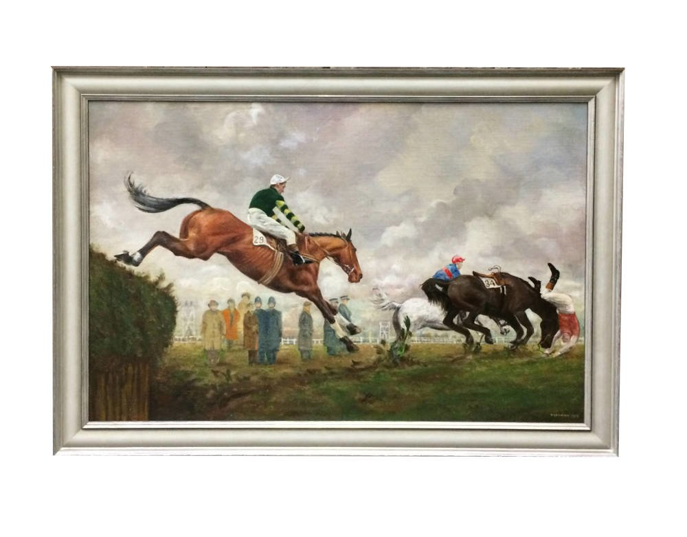 Oil Painting Framing - horse trails in Larson Juhl moulding