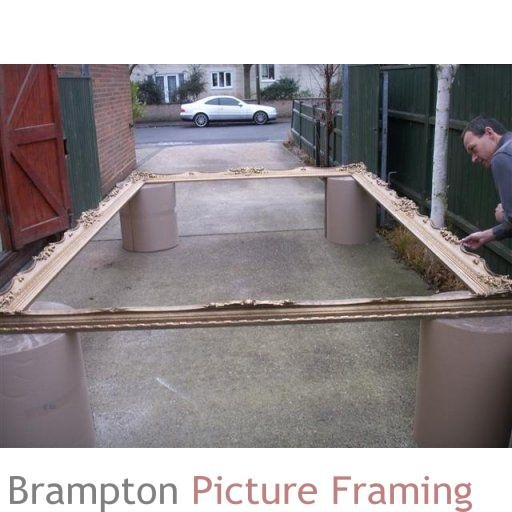 huge 4x2m swept picture frame