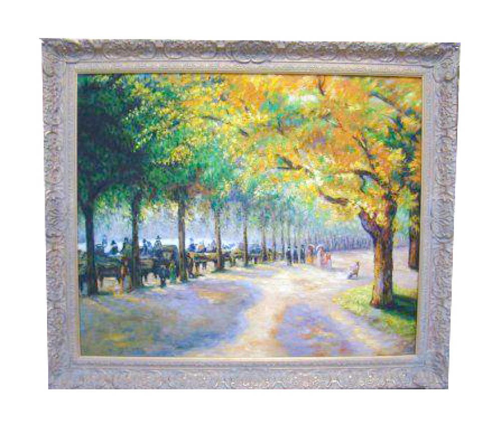 Hyde Park Pissarro in Closed Corner Ornate Frame