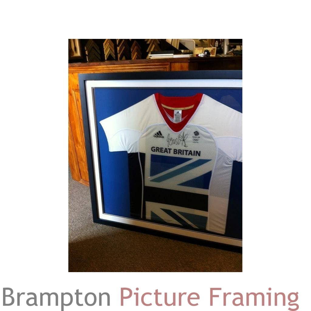 Sports and football shirt framing brampton picture framing jessica ennis team gb signed shirt solutioingenieria Image collections