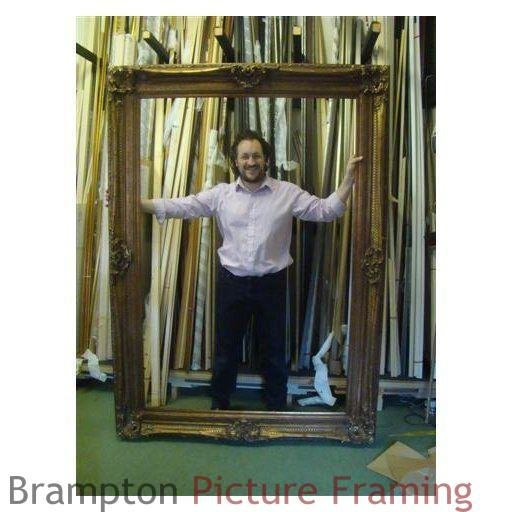 large gold swept frame for oil painting