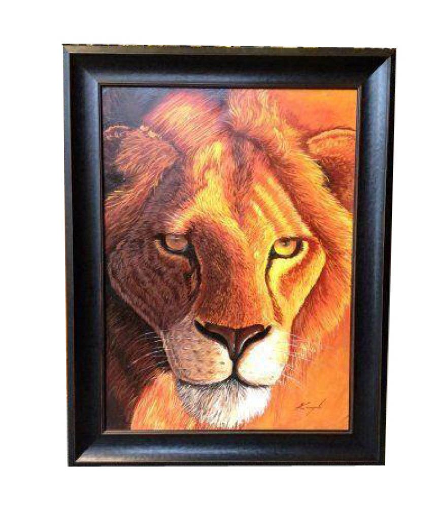 Oil Painting Framing - lion painting framed stretched painting frame ideas