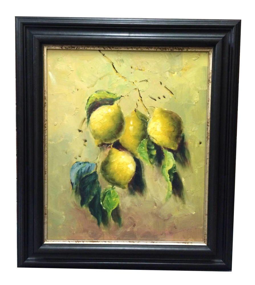 Professional picture framing online diy framing brampton framing heavy black frame 905006 derbyshire framing lemons still life painting jeuxipadfo Image collections