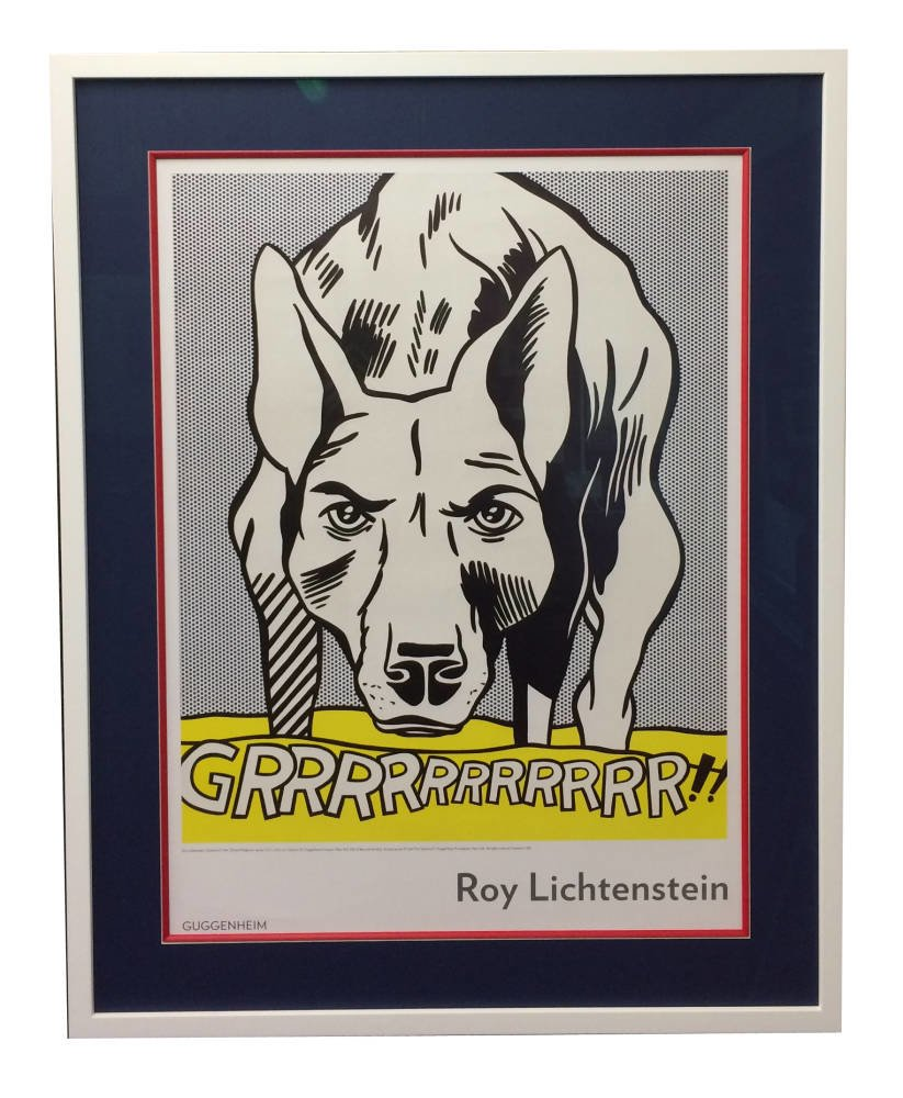 Lichtenstein print framed