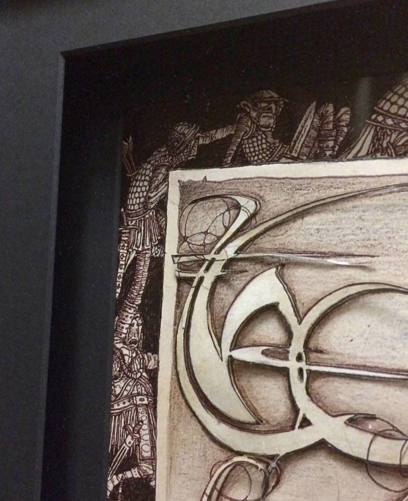 Lord of The Rings paper cut out framed - Main Image