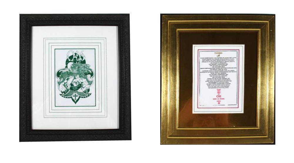 Double Sided Framing - custom mount decoration with low reflective glass