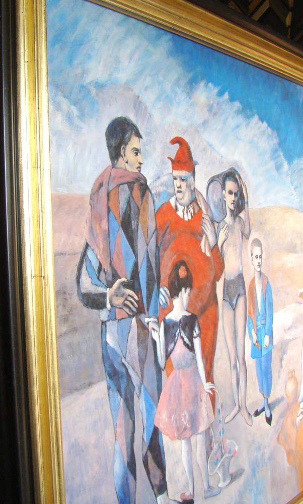 Picasso Style Oil Painting In Gold And Black Frame