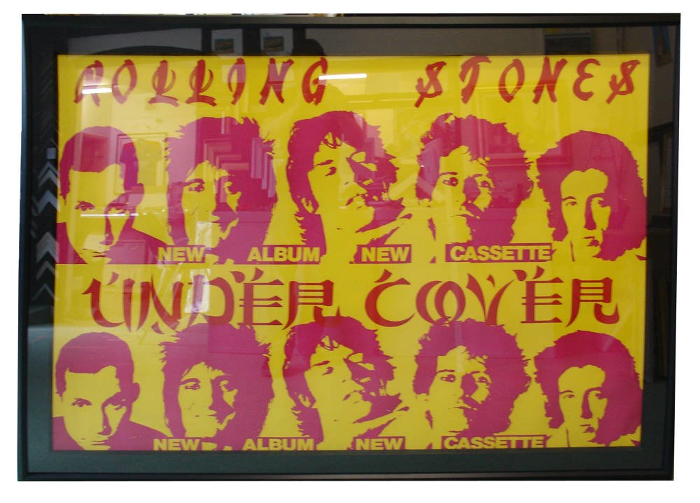 Professionally framed large original Rolling Stones gig poster