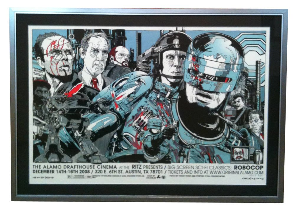 RoboCop poster mounted and framed - Main Image