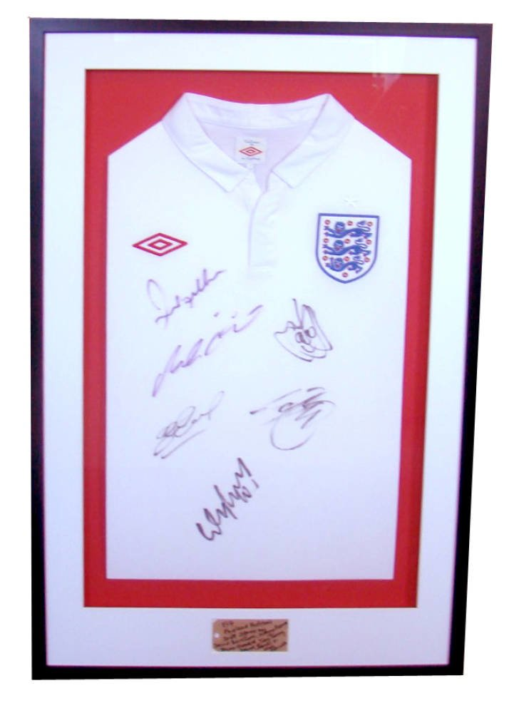 Signed England Football shirt