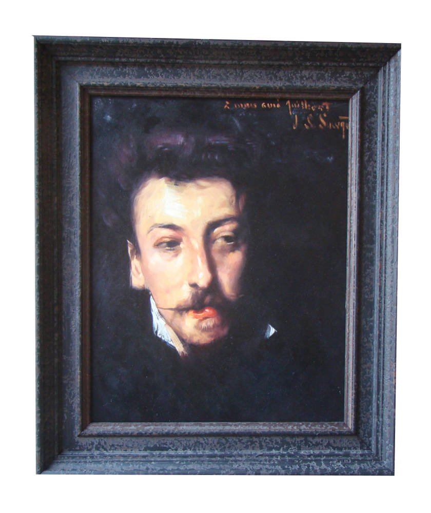 Aged frame oil painting reproduction oil painting framed - Singer Sargent Portrait Oil Painting Stretching Framing