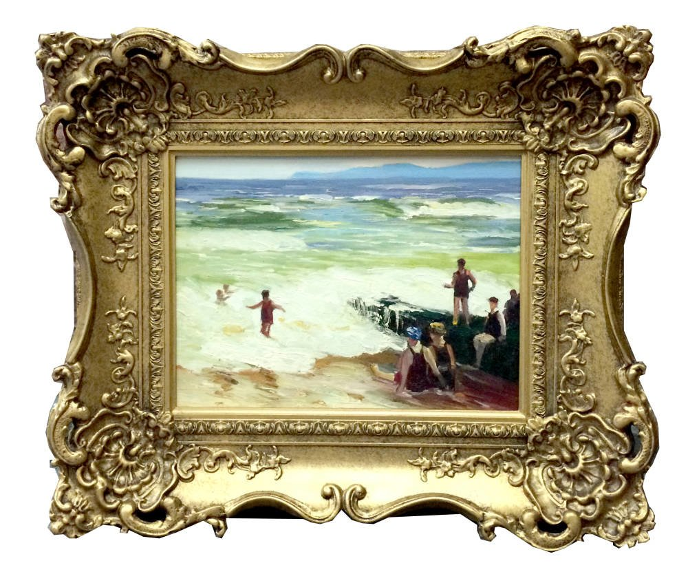 Small swept frame for oil painting