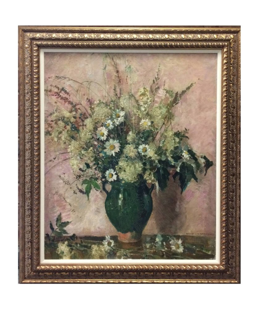 19th century oil painting Vase of Flowers