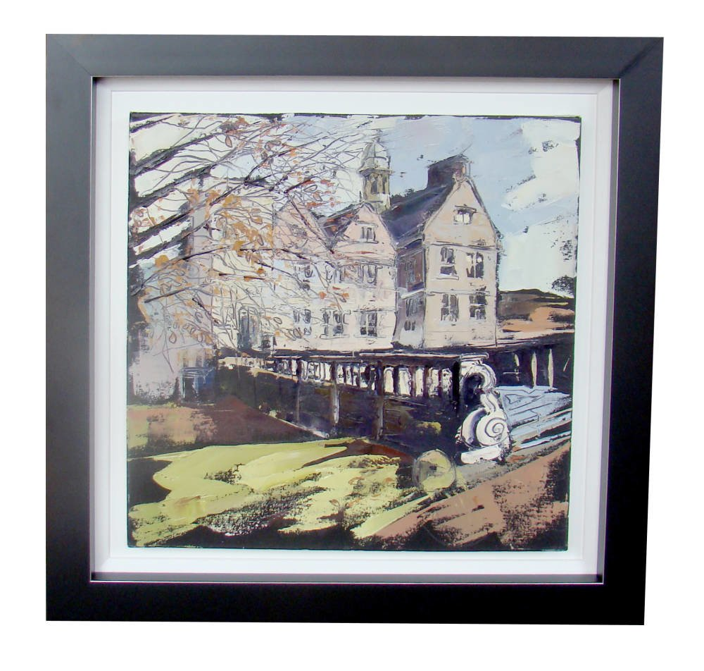 Acrylic Painting Framing - architecture painting