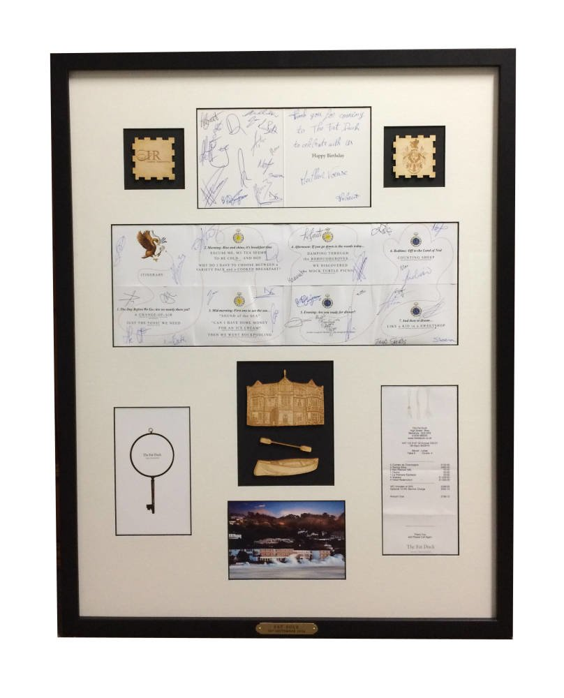 The Fat Duck Menu framed - Main Image