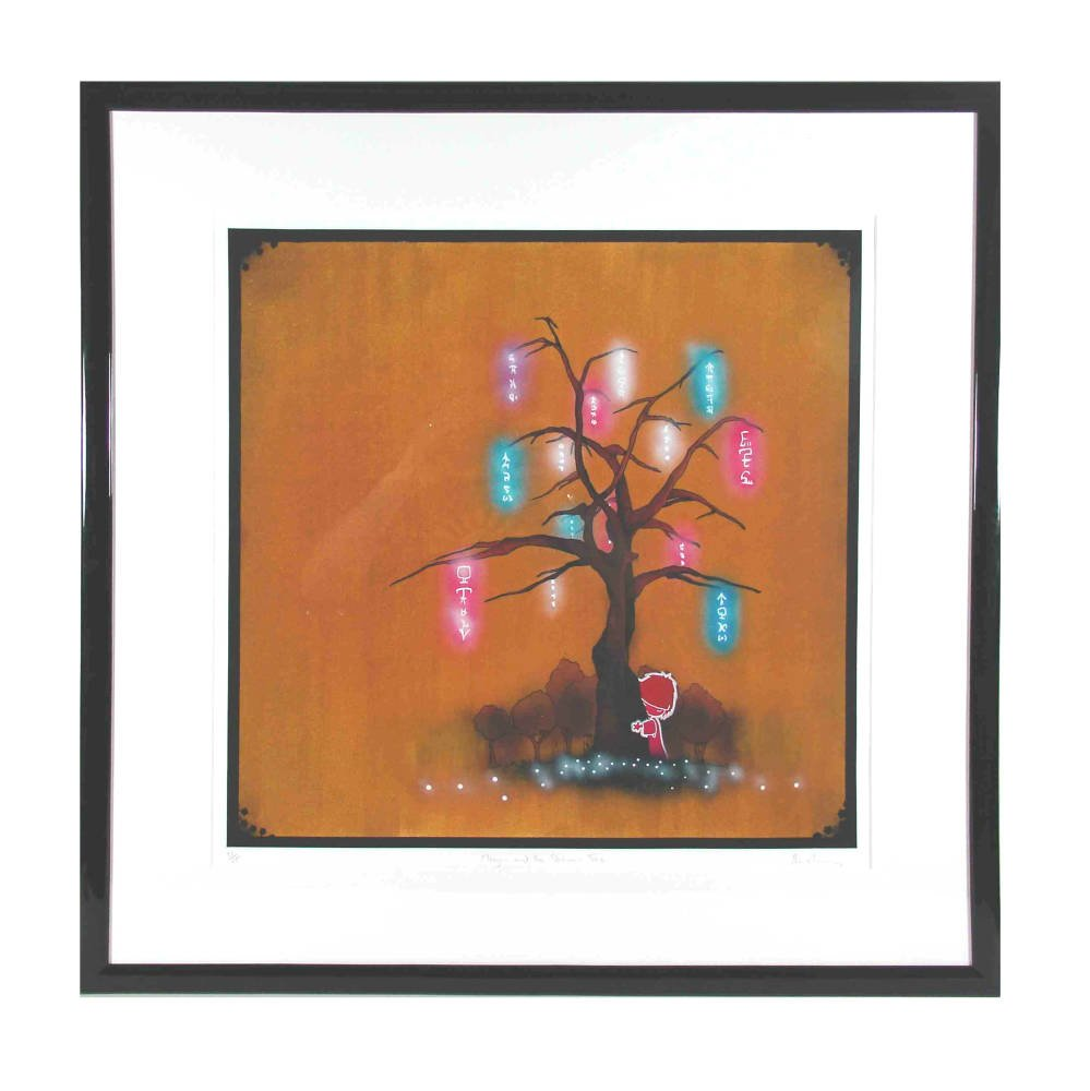 Modern black lacquered frame - Tom Lewis - Megan and the Shimmer Tree