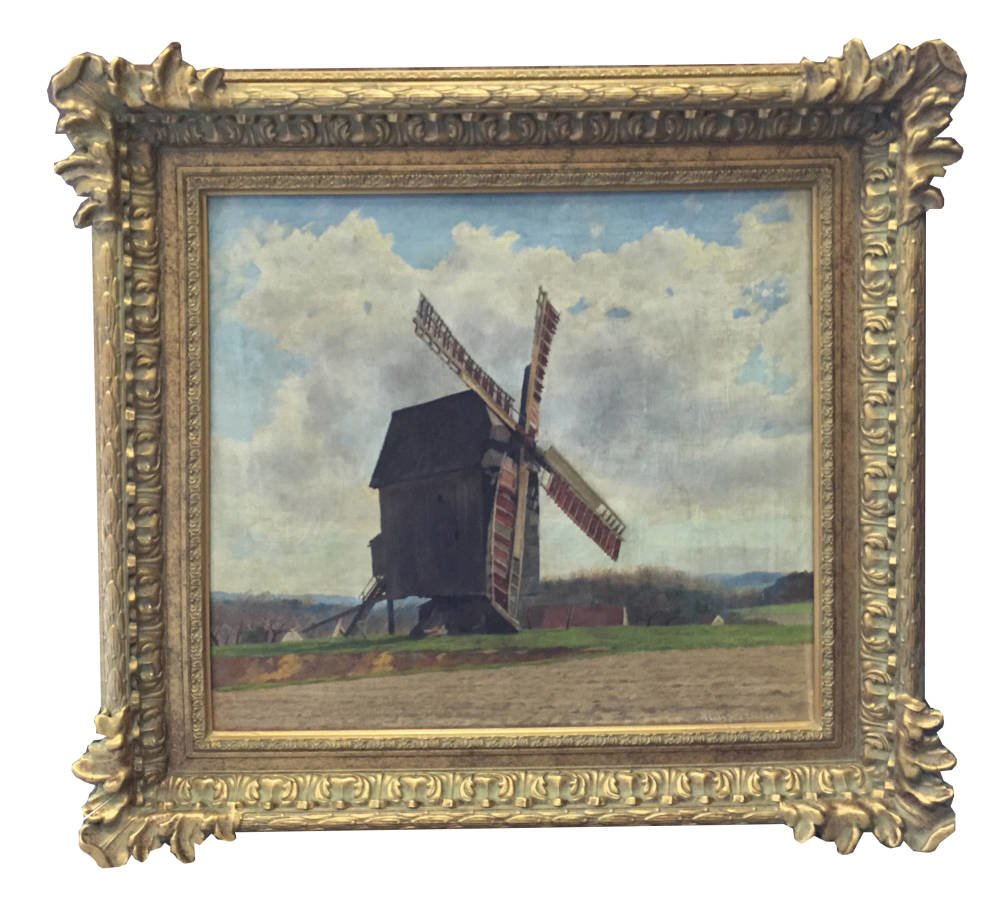 Windmill painting framed - Main Image