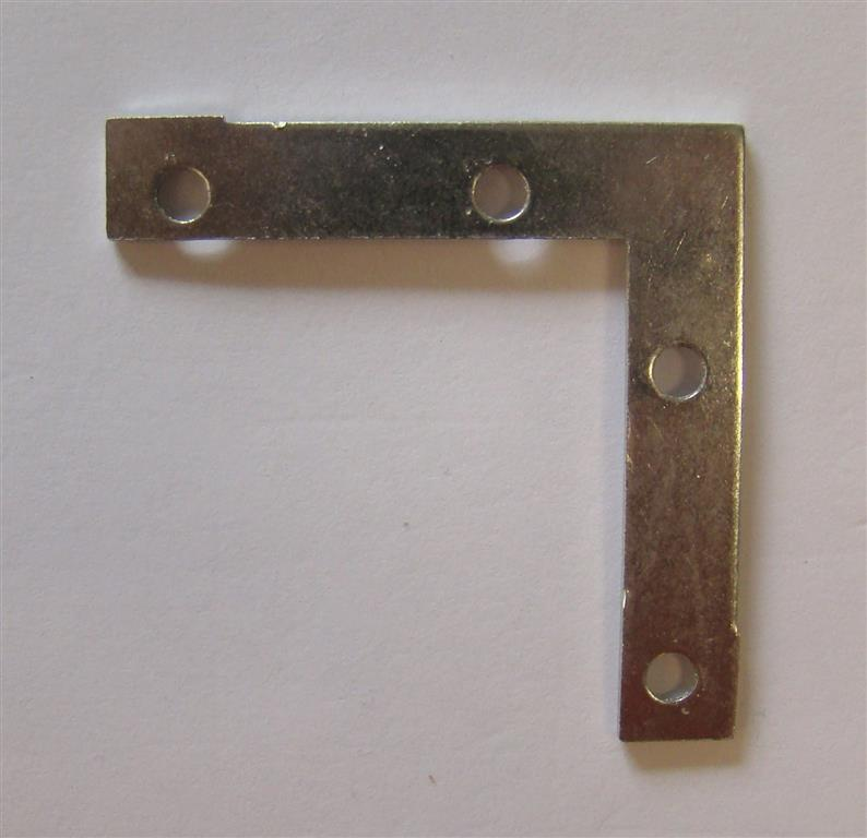 Steel Corner Reinforcement Plates 50x50mm (incl. Screws) | Picture Framing Supplies