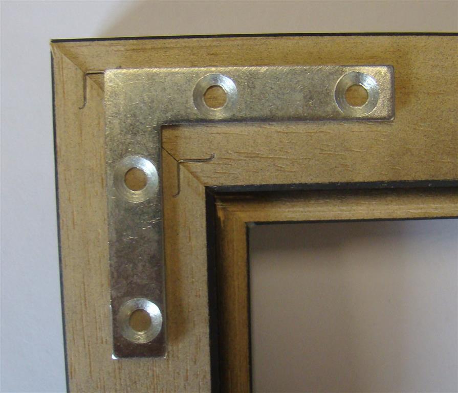 Steel Corner Reinforcement Plates 50x50mm With Screws