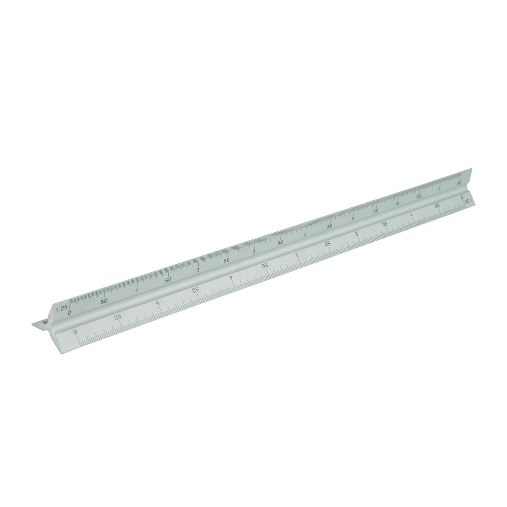 300mm Aluminium Tri Scale Rule | Picture Framing Supplies