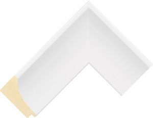 107127000 White LJE Moulding Chevron