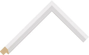 128127000 White Slip Moulding Chevron