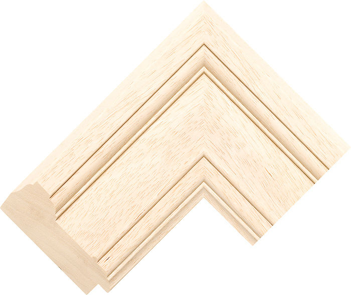 86mm Wide Natural Scoop Obeche Picture Frame Moulding ...