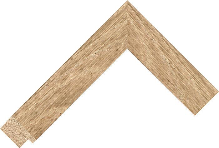 34mm Wide Natural Flat Oak Picture Frame Moulding ...