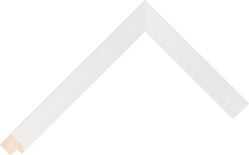 Corner sample of White Bevel Ayous Frame Moulding
