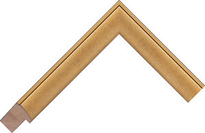 221737004 Gold LJE Moulding Chevron