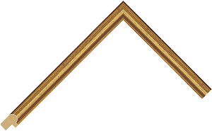 233250500 Gold LJE Moulding Chevron