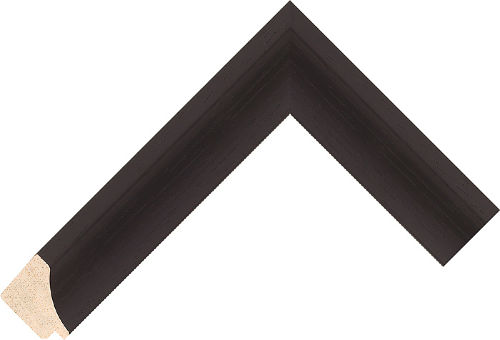 Corner sample of Wenge Scoop Ayous Frame Moulding