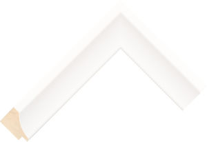 256127000 White LJE Moulding Chevron