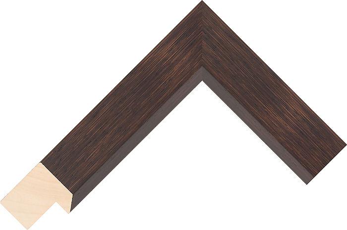 Corner Sample Of Wenge Flat Ayous Frame Moulding
